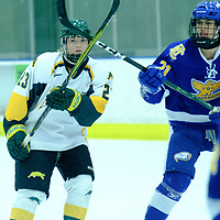 in action during the Women's Hockey Home Game on October 21 at Co-operators Arena. Credit Matt Johnson/©Arthur Images 2017