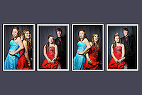 Felicia Pollos, Paige Frederickson, Devon Clark portraits before the winter prom Saturday, January 28, 2012 at Coeur d'Alene High.
