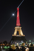 Eiffel Tower Lit With Belgium Flag