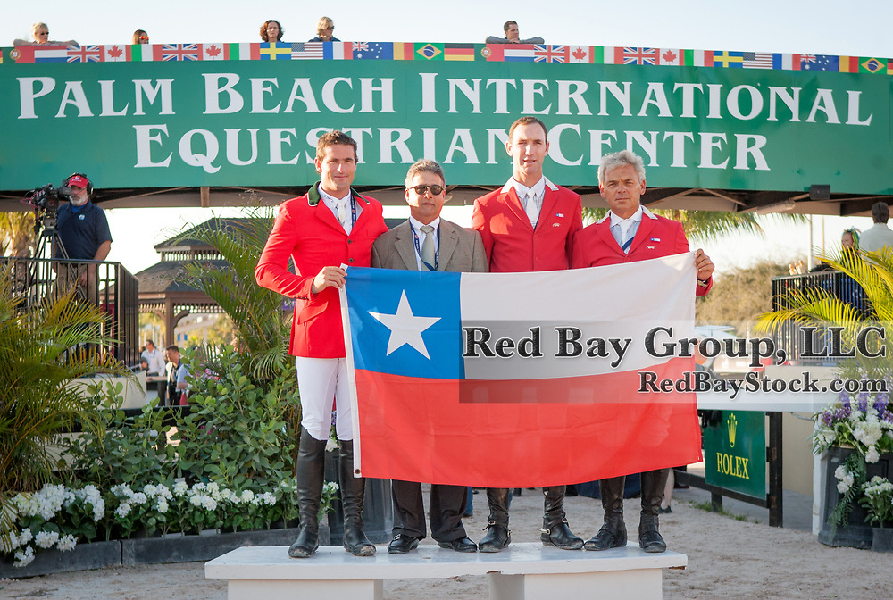 Team Chile at the 2014 Furusiyya FEI Nations Cup held during the Winter Equestrian Festival in Wellington, Florida.