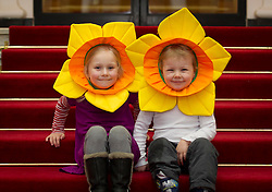 Repro Free: 21/03/2013 Alexandra (4) and Luke O'Donnell (3) from Rathgar, Co.Dublin are pictured ahead of the Irish Cancer Society's Daffodil Day, taking place nationwide tomorrow (Friday 22st March). The Irish Cancer Society and Dell, lead partners for Daffodil Day, are calling on the Irish public to wear a daffodil today and support those affected by cancer in Ireland. Picture Andres Poveda.