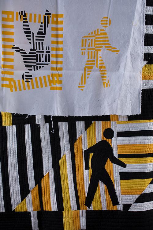 Silkscreen on fabric, by Steven Driscoll Hixson