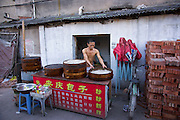 Street food vender in Wenzhou, China.