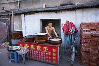 Street food vender in Wenzhou, China.