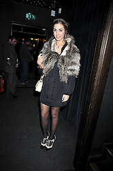 AMBER LE BON at a party following the Issa fashion show at the February 2009 Fashion Week held at Raffles, King's Road, London on 23rd February 2009.