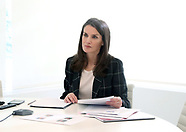 042020 Queen Letizia attends a videoconference at Zarzuela Palace