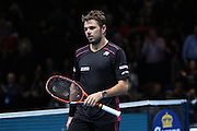 The winner Stan Wawrinka during the ATP World Tour Finals at the O2 Arena, London, United Kingdom on 20 November 2015. Photo by Phil Duncan.
