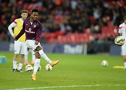 Raheem Sterling of England (Liverpool) warms up prior to kick off. - Photo mandatory by-line: Alex James/JMP - Mobile: 07966 386802 - 15/11/2014 - SPORT - Football - London - Wembley - England v Slovenia - EURO 2016 Qualifier