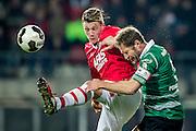 ALKMAAR - 21-01-2017, AZ - Sparta, AFAS Stadion, AZ speler Wout Weghorst, Sparta speler Michel Breuer