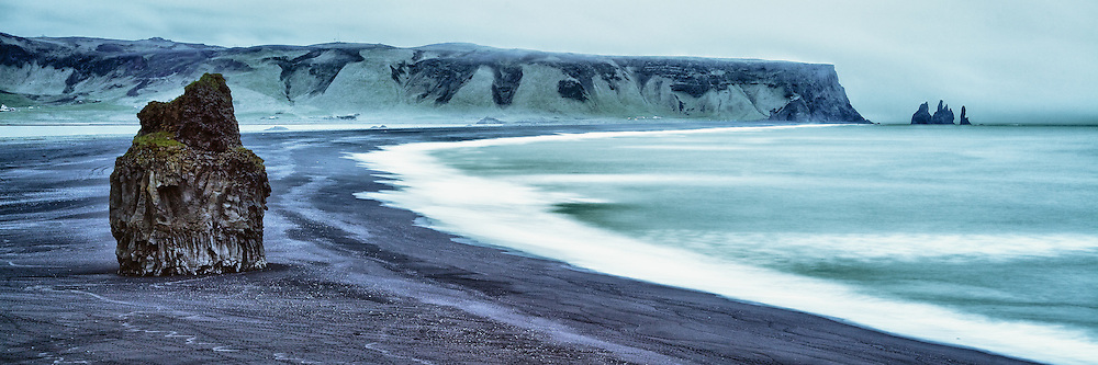 Black sands on the south coast of Iceland.<br />