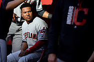 PHOENIX, AZ - APRIL 08:  Jose Ramirez #11 of the Cleveland Indians sits in the dugout duirng the MLB game against the Arizona Diamondbacks at Chase Field on April 8, 2017 in Phoenix, Arizona. The Arizona Diamondbacks won 11-2.  (Photo by Jennifer Stewart/Getty Images)