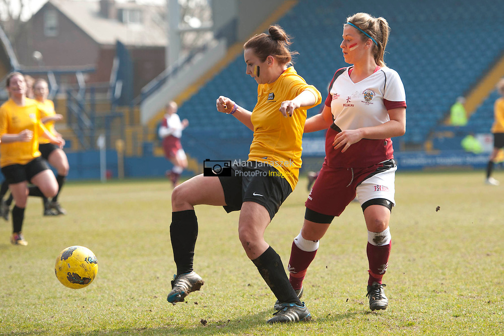 University of Sheffield v Sheffield Hallam football 1 (Women) at the Hillsborough Stadium home to Sheffield Wednesday FC. Result 1-3