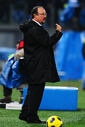 03.12.2010, Stadio Olimpico, Rom, ITA, Serie A, Lazio Rom vs Inter Mailand, im Bild Rafael BENITEZ, EXPA Pictures © 2010, PhotoCredit: EXPA/ InsideFoto/ Andrea Staccioli         +++++ ATTENTION - FOR AUSTRIA/AUT, SLOVENIA/SLO, SERBIA/SRB an CROATIA/CRO CLIENT ONLY +++++
