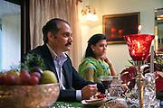 Kashmiri royalty, Yuvraj Vikramaditya Singh with his daughter, Mriganka Singh.