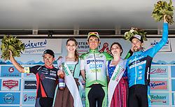 07.07.2016, Villach, AUT, Ö-Tour, Österreich Radrundfahrt, 5. Etappe, Millstatt auf den Dobratsch, im Bild Garcia David Belda (ESP, Team Roth, 3. Platz), Simone Sterbini (ITA, Bardiani CSF, Etappensieger), Markus Eibegger (AUT, Team Felbermayr Simplon Wels, 2. Platz) // Garcia David Belda (ESP Team Roth 3rd place) Simone Sterbini (ITA Bardiani CSF stage winner) Markus Eibegger (AUT Felbermayr-Simplon Wels 2nd place) during the Tour of Austria, 5th Stage from Millstatt nach Dobratsch. Villach, Austria on 2016/07/07. EXPA Pictures © 2016, PhotoCredit: EXPA/ JFK