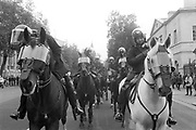 Mounted Police at the 3rd Criminal Justice March.London,9th of October, 1994