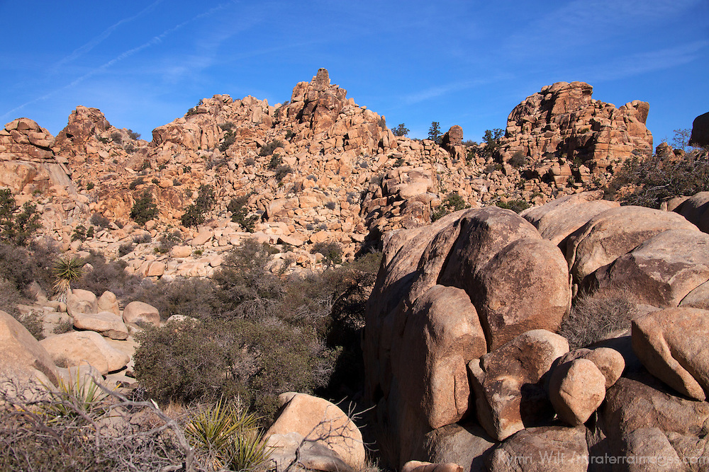 USA, California, Joshua Tree. Hidden Valley Rock Formations, Joshua Tree.