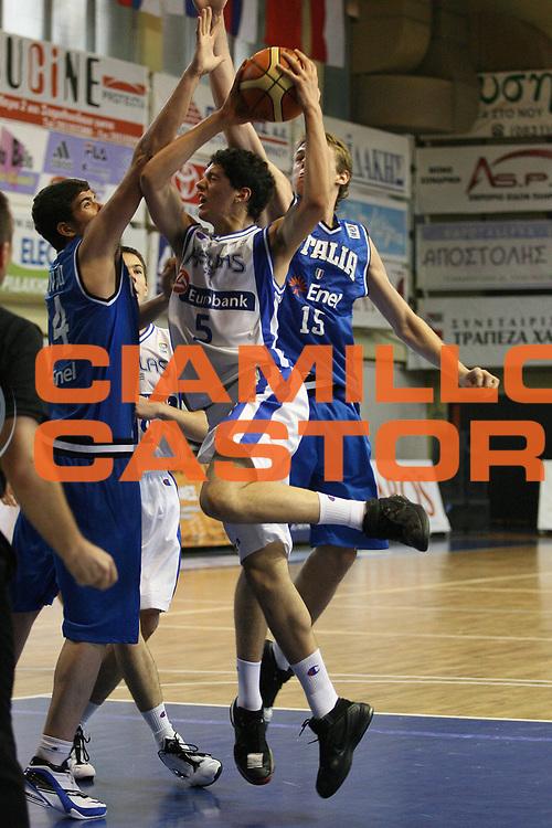 DESCRIZIONE : Rethimnon Crete Termosteps U16 European Championship Men Semifinal 5th-8th Place Greece Italy<br /> GIOCATORE : Varnavas<br /> SQUADRA : Greece<br /> EVENTO : Rethimnon Crete Termosteps U16 European Championship Men Creta Europeo U16 Uomini <br /> GARA : Greece Italy Grecia Italia<br /> DATA : 28/07/2007 <br /> CATEGORIA : Tiro<br /> SPORT : Pallacanestro <br /> AUTORE : Agenzia Ciamillo-Castoria/M.Marchi <br /> Galleria : Europeo Under 16 <br /> Fotonotizia : Rethimnon Crete Termosteps U16 European Championship Men Semifinal 5th-8th Place Greece Italy<br /> Predefinita :