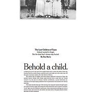 Tearsheet of Special Report 'The Lost Children of Tuam' published in The New York Times