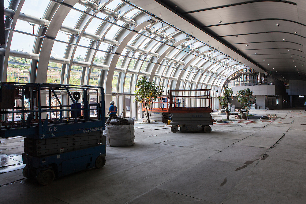 Work continues on the Daan Park MRt station, scheduled to open in December 2012.