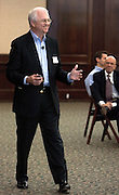 Greg Shortell, President and CEO of Network Engines,  speaks during The Ralph and Luci Schey Sales Centre's 10th Annual Sales Symposium at O.U. on Friday, 4/20/07.