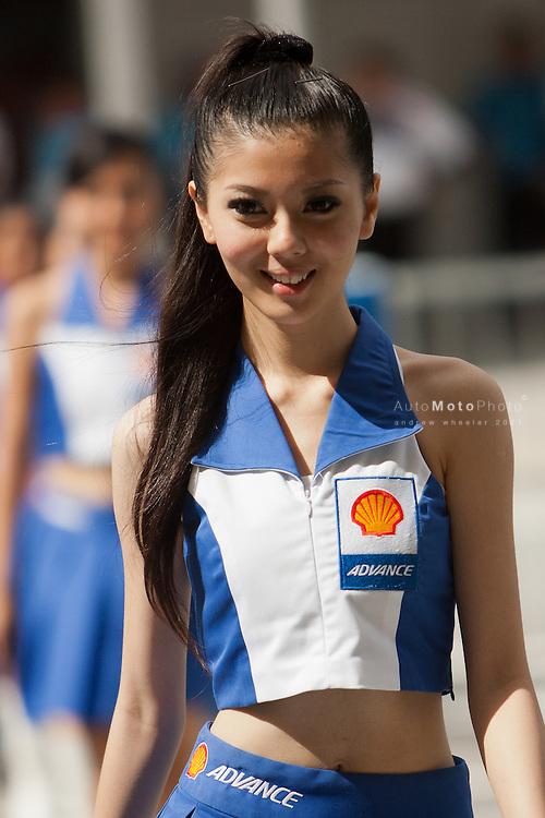 2011 MotoGP World Championship, Round 17, Sepang, Malaysia, 23 October 2011, Umbrella Girls
