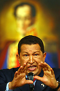 Hugo Rafael Chávez Frías is the current President of Venezuela. As the leader of the Bolivarian Revolution, Chávez promotes his vision of democratic socialism, Latin American integration and anti-imperialism. He is also a critic of neoliberal globalization and United States foreign policy. December 5, 2006. (ivan gonzalez)