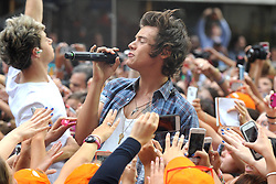 60387887<br /> Harry Styles of One Direction during NBC's 'Today' at Rockefeller Center on August 23, 2013 in New York City, USA.<br /> Picture by imago / i-Images<br /> UK ONLY