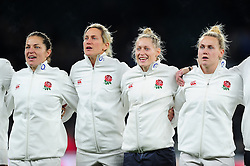 England players line up for the national anthem - Mandatory byline: Patrick Khachfe/JMP - 07966 386802 - 26/11/2016 - RUGBY UNION - Twickenham Stadium - London, England - England Women v Canada Women - Old Mutual Wealth Series.