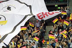 LEIZPIG - WC HOCKEY INDOOR 2015<br /> GER v SUI (QF 1)<br /> Foto: German fans<br /> FFU PRESS AGENCY COPYRIGHT FRANK UIJLENBROEK