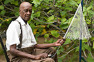 Captain, who is 88, has been making cast nets the traditional Gullah-Geechee way since he was 4 years old.