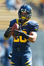 BERKELEY, CA - SEPTEMBER 08: Running back Isi Sofele #20 of the California Golden Bears warms up before the game against the Southern Utah Thunderbirds at Memorial Stadium on September 8, 2012 in Berkeley, California. The California Golden Bears defeated the Southern Utah Thunderbirds 50-31. (Photo by Jason O. Watson/Getty Images) *** Local Caption *** Isi Sofele