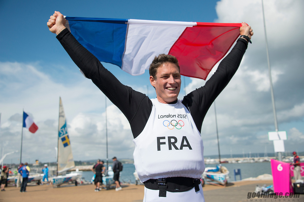 2012 Olympic Games London / Weymouth<br /> Finn Medal Race<br /> Lobert Jonathan, (FRA, Finn)
