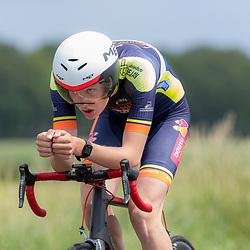 19-06-2019: Wielrennen: NK tijdrijden nieuwelingen junioren: Emmen <br /> Joost Brinkman
