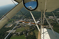 Flying over Colby Sawyer College in New London, NH