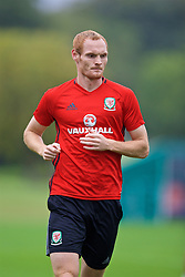 CARDIFF, WALES - Friday, September 2, 2016: Wales' Shaun MacDonald during a training session at the Vale Resort ahead of the 2018 FIFA World Cup Qualifying Group D match against Moldova. (Pic by David Rawcliffe/Propaganda)