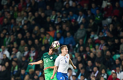 Rene Krhin of Slovenia vs Jan Gregus of Slovakia during football match between National teams of Slovenia and Slovakia in Round #2 of FIFA World Cup Russia 2018 qualifications in Group F, on October 8, 2016 in SRC Stozice, Ljubljana, Slovenia. Photo by Vid Ponikvar / Sportida