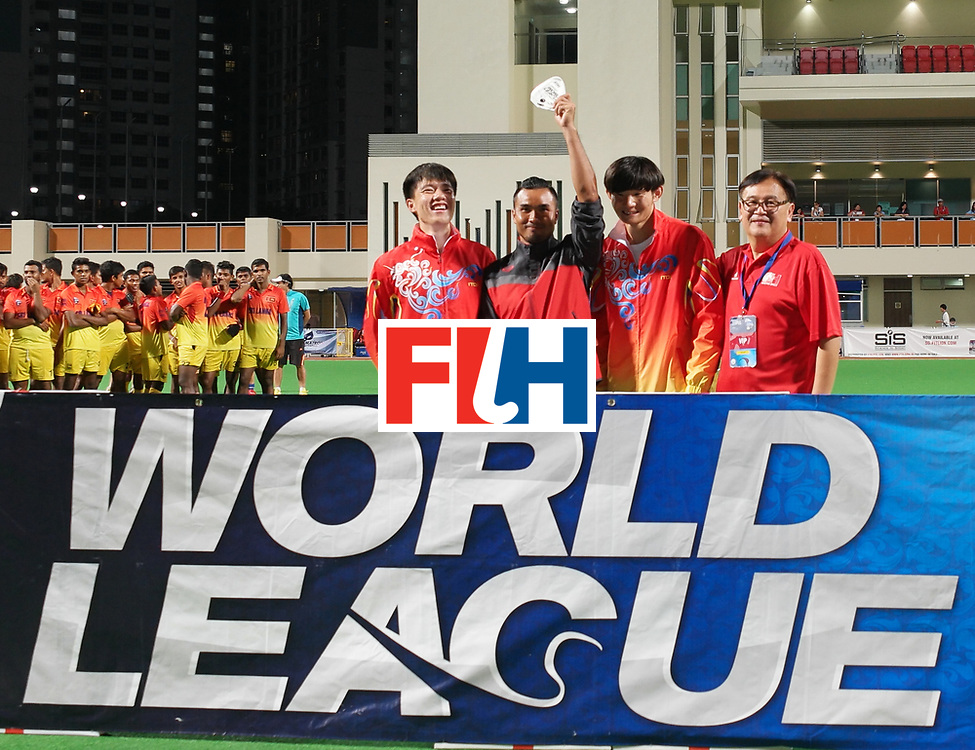 Hockey World League, final China vs Sri Lanka at SengKang Hockey Stadium on April 17, 2016. Photo by Edwin Koh / Sports Singspore