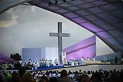 BOGOTA, COLOMBIA 07 SEPT 2017: Pope Francis celebrates Mass at Simon Bolivar Park in Bogota, Columbia for over 1.3 million people.