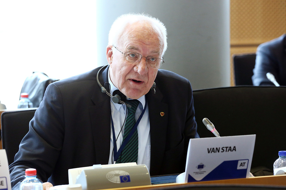 12 May 2017, 123rd Plenary Session of the European Committee of the Regions <br /> Belgium - Brussels - May 2017 <br /> <br /> Mr VAN STAA Herwig, President of the Tyrol Regional Parliament, Austria<br /> <br /> &copy; European Union / Patrick Mascart