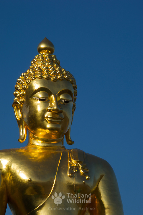 Gold buddha at Sop Ruak, Golden Triangle, northern Thailand