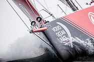 The Seven Star Triple Crown as part of Lendy Cowes week 2017. The Volvo Ocean Race VOR65 'Dongfeng Race Team' shown here in action. Skippered by Charles Caudrelier (FRA)<br /> Credit Lloyd Images