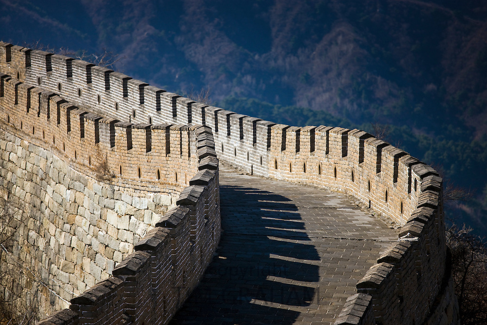 The ancient Great Wall at Mutianyu, north of Beijing (formerly Peking)