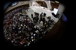 May 24,  2019  - Holy See, Vatican - POPE FRANCIS during the audience for the italian sport newspaper ''La Gazzetta dello Sport'' in Aula Paolo VI at the Vatican. (Credit Image: © Evandro Inetti/ZUMA Wire)