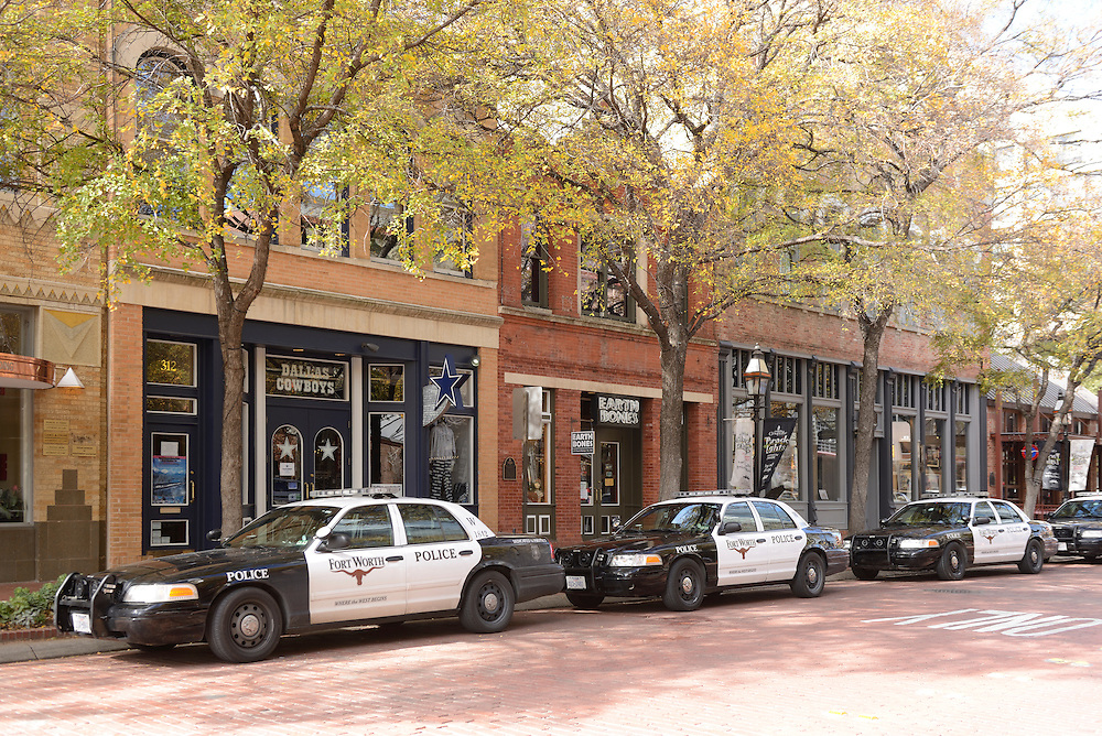 Police Cars, downtownFort Worth, Texas,USA