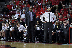 20 March 2017:  Jamill Jones and Johnny Dawkins and the bench during a College NIT (National Invitational Tournament) 2nd round mens basketball game between the UCF (University of Central Florida) Knights and Illinois State Redbirds in  Redbird Arena, Normal IL