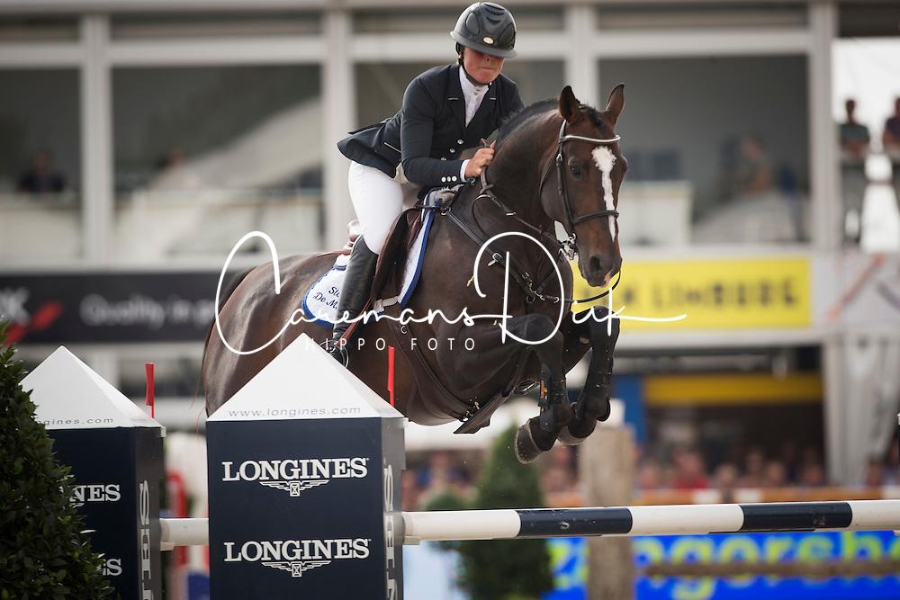 De Brabander Karline (BEL) - Fantomas de Muze <br /> Sires of the World<br /> FEI World Breeding Jumping Championships for Young Horses - Lanaken 2014<br /> &copy; Dirk Caremans