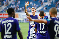 August 27, 2017 - Gent, BELGIUM - Anderlecht's Lukasz Teodorczyk pictured after the Jupiler Pro League match between KAA Gent and RSC Anderlecht, in Gent, Sunday 27 August 2017, on the fifth day of the Jupiler Pro League, the Belgian soccer championship season 2017-2018. BELGA PHOTO BRUNO FAHY (Credit Image: © Bruno Fahy/Belga via ZUMA Press)