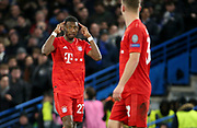 David Alaba of Bayern Munich during the UEFA Champions League, round of 16, 1st leg football match between Chelsea and Bayern Munich on February 25, 2020 at Stamford Bridge stadium in London, England - Photo Juan Soliz / ProSportsImages / DPPI