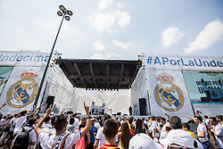 Fans in the Real Madrid's fan zone prior to the football match between Real Madrid (ESP) and Atlético Madrid (ESP) in Final of UEFA Champions League, on May 28, 2016 in Doumo, Milan, Italy. Photo by Vid Ponikvar / Sportida